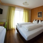 Three bed room with toilet, shower or bath, satellite-TV and balcony