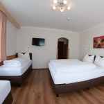 Four bed room with toilet, shower, satellite-TV and balcony