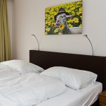 Two bed room with toilet, shower, satellite-TV and balcony